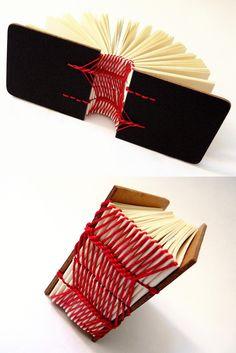 New bookbinding stitch study - estudo para nova costura! Luisa Gomes Cardoso para o Canteiro de Alfaces