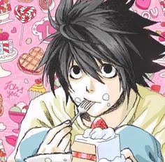 M Anime, Anime Guys, Anime Art, Death Note Fanart, L Death Note, L Icon, L Wallpaper, L Lawliet, Anime Characters