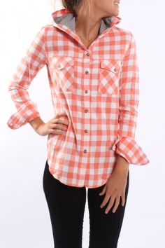 Hoodie Flannel...Cute and great for fall!