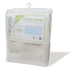 The Colgate EcoCover is an extra soft, mattress cover made of certified organic cotton with a waterproof backing to ensure your crib mattress remains dry and protected.