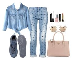 """""""Denim & Pink"""" by leengardini ❤ liked on Polyvore featuring STELLA McCARTNEY, Prada, adidas, Marc Jacobs, Christian Dior and Gucci"""