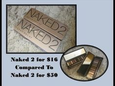 Naked 2 Palette for $16 Compared to Naked 2 Palette for $50