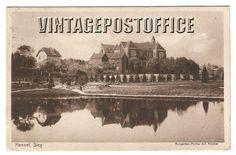 Hennef Sieg vintage postcard Kurgarten partie door vintagepostoffice