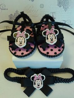 Newborn Handmade Baby Sandals with Headband   by KaisyGiftShop
