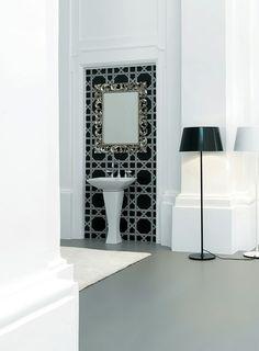 Jazz, design Meneghello Paolelli Associati. Lavabo colonna / Pedestal washbasin. # washbasin #bagno #design #bathroom #lavabo #artceram