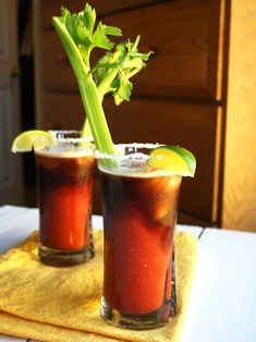 Irish Bloody Mary...this is a from-scratch recipe, but I had it vodka, Zing Zang and topped with an ounce or two of Guinness. Either way, YUM! PPQ: Bloody Marys