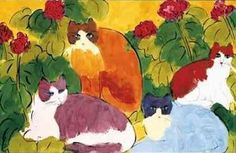 Walasse Ting Chinese) was born in Shanghai and is famous for his colorful paintings of cats, women and other animals. In he left Shanghai Chinese Contemporary Art, Cat Art Print, Kunst Poster, Colorful Paintings, Love Art, Painting & Drawing, Art Gallery, Art Prints, Artwork