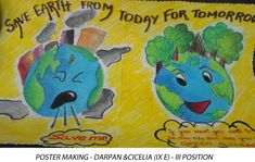 awareness of campaign in our school hand made posters save water - Google Search