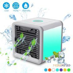 Air Cooler Portable Mini USB Fan Desk ABS Computer Table Electric Fan Home Office Fans Mini Ventilator Color : Blue