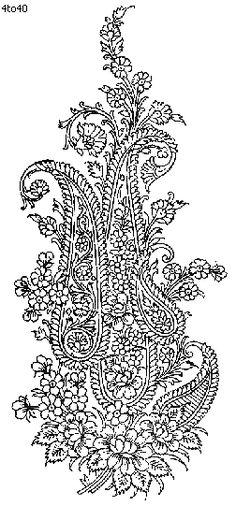 Indian Motifs Textile Pattern, Nylon Fabric, Indian Motifs Dynamic Textile Patterns, Textile Guide Delhi India