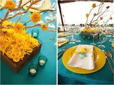 decoracion de boda en azul con naraa - Buscar con Google