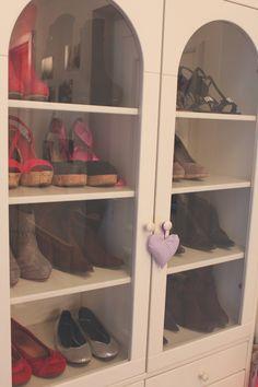 #shoe #storage in #glass #cupboard
