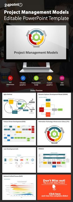 Editable PowerPoint Templates | Slides | Designs: Project Management Models