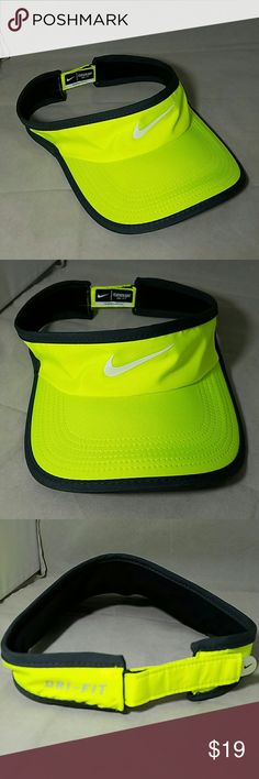 e76ee038aab54 NIKE Neon Safety Yellow Dri-Fit Featherlight Visor Brand  Nike Item  Neon  Yellow
