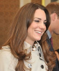 Kate Middletons gorgeous, brunette hairstyle