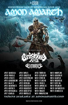 Swedish melodic death metal giants Amon Amarth have announced a North American tour with Entombed A. and Exmortus. Amon Amarth, New Movies, Movies To Watch, Hindi Movies, Bring It Live, Album, Tour Posters, Popular Movies, Death Metal