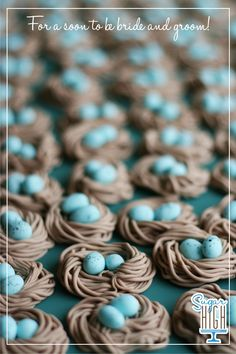 Robin's Nest Fondant Cupcake Toppers for a wedding reception