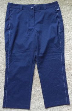 Nike Golf Tour Performance Women's Dri Fit Navy Blue Crop Pants Size 10   eBay