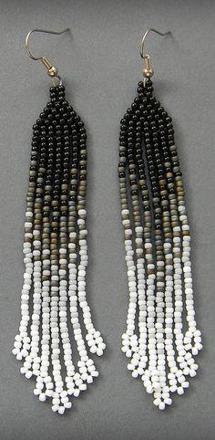 длинные серьги из бисера, украшения из бисера, серьги ручной работы, beaded earrings, beadwork, beadweaving, beadwoven earrings, seed bead earrings, beaded jewelry