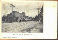C1905 The Flatiron Bradford County Athens Pennsylvania Postcard | eBay