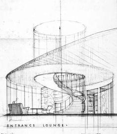 New Building Stairs Architecture Entrance 28 Ideas Online Architecture, Plans Architecture, Architecture Drawings, Landscape Architecture, Architecture Design, Perspective Architecture, Stair Art, Building Stairs, Interior Design Sketches