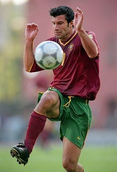 Luis Figo the Sporting, Barca, Real and Inter matador. Won everything everywhere including the 1991 U20 World Cup for Portugal - but seemingly a bit of a woose when confronted by the ball.