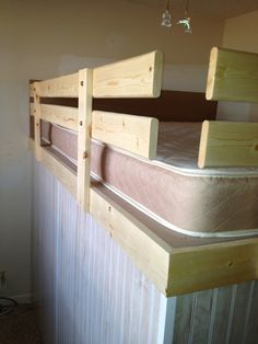 Safety rails for loft bed #grodconstruction #diy