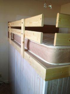Safety rails for loft bed #grodconstruction #diy