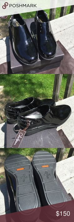 Brand New Cole Haan Black Patent Shoes Never worn still in box. Air Tali Rain Slipon Black Parent and waterproof Cole Haan Shoes