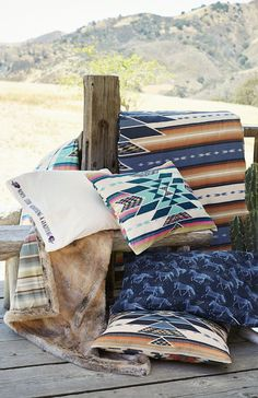 Bring southwestern style to your room with this ultraplush faux-fur throw, with the front featuring serape-inspired stripes in beautiful hues. Designed exclusively for PBteen by sisters Amie and Jolie Sikes, it captures the duo's rebellious spirit and unique design philosophy.