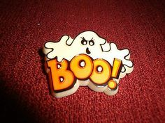 "VINTAGE HALLMARK HALLOWEEN "" BOO "" GHOST LAPEL PIN"