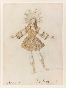 Louis XIV, King of France costumed as Apollo, by Henri de Gissey - graphite, watercolour and bodycolour on vellum The Queen's Gallery, Werewolf Costume, Male Ballet Dancers, Old King, Miracle Baby, Western World, Louis Xiv, Victoria And Albert Museum, Elizabeth Ii