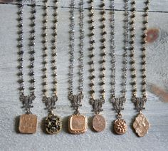 Jules-Vintage assemblage necklace by frenchfeatherdesigns on etsy.