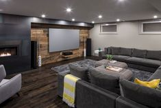 Superb Basement Home Theater Concepts – Home to Z Basement house theater could be a nice thought to make a small room for your loved ones time. Spending time with household isn't at all times must be costly or hanging out [. Basement Movie Room, Cozy Basement, Basement House, Basement Plans, Basement Bedrooms, Basement Renovations, Home Remodeling, Basement Family Rooms, Basement Bathroom