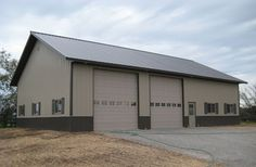 Metal buildings cost and Pole barn with living quarters. Steel Garage Buildings, Metal Garages, Pole Buildings, Shop Buildings, Garage House Plans, Barn House Plans, Barn Plans, Metal Shop Building, Building Costs