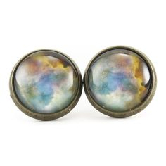 Omega Nebula Stud Earrings
