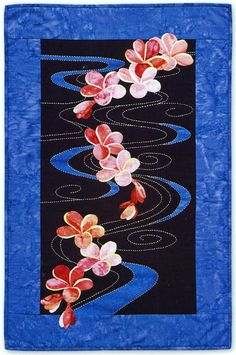 Plumeria Floating on Water Quilt