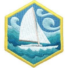 DIY Skills badge, $4. Sailors use nothing but wind and their vessel to travel by water for sport and adventure. They must be self-reliant, quick with knots, and observant of the natu