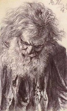 "Adolph Menzel, ""Old Man"""