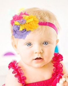 Baby Headbands India, Cute Flower Baby Hair Band, Toddlers Headband, Sttretchable Kids Headband, Shabby Chic Flower Headband, Hair Bow, Kids Hair Accessories, Princess Birthday Headband for Parties and Outings