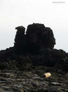 """Photo taken March 13, 2014- The """"Camel Stone"""" on Green Island in Taitung, Taiwan. The Green Island is a small volcanic island off the eastern coast of Taiwan. The island, which has an area of about 16 square kilometers, is well-known for its scenery"""