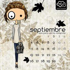 De vuelta con un calendario de septiembre para que te lo descargues totalmente gratis!   Back with september calendar to download for free!