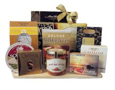 Premier Gourmet Gift Basket. Designed by Thoughtful Expressions Gift Baskets Canada in Fort St. John, BC.