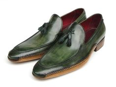 PAUL PARKMAN ® The Art of Handcrafted Men's Footwear - Paul Parkman Men's Side Handsewn Tassel Loafer Green Shoes