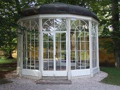 "Sound of Music Gazebo - Salzburg Austria. They had to close it to the public after an elderly woman fell while dancing from bench to bench singing ""I am sixteen going on seventeen..."""