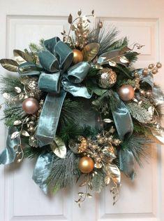 Christmas Parade Palm Bay Fl and Christmas Wreaths Ireland Christmas Door Wreaths, Holiday Wreaths, Christmas Crafts, Christmas Decorations, Elegant Christmas Decor, Christmas Mantles, Christmas Cookies, Blue Christmas, Christmas 2019
