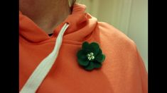 How to make a four leaf clover brooch