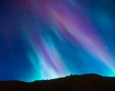 Northern lights starry sky night zodiac winter photo by bomobob, $30.00