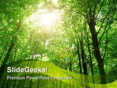 Sunlight Nature PowerPoint Template 0810