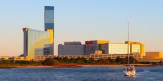 View of Harrahs from the bay...